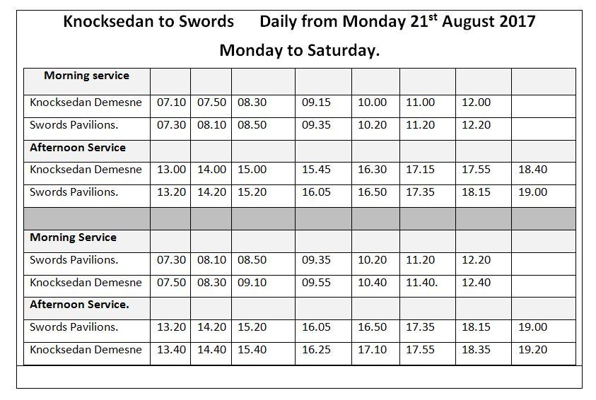 Route 196 Knocksedan to Swords